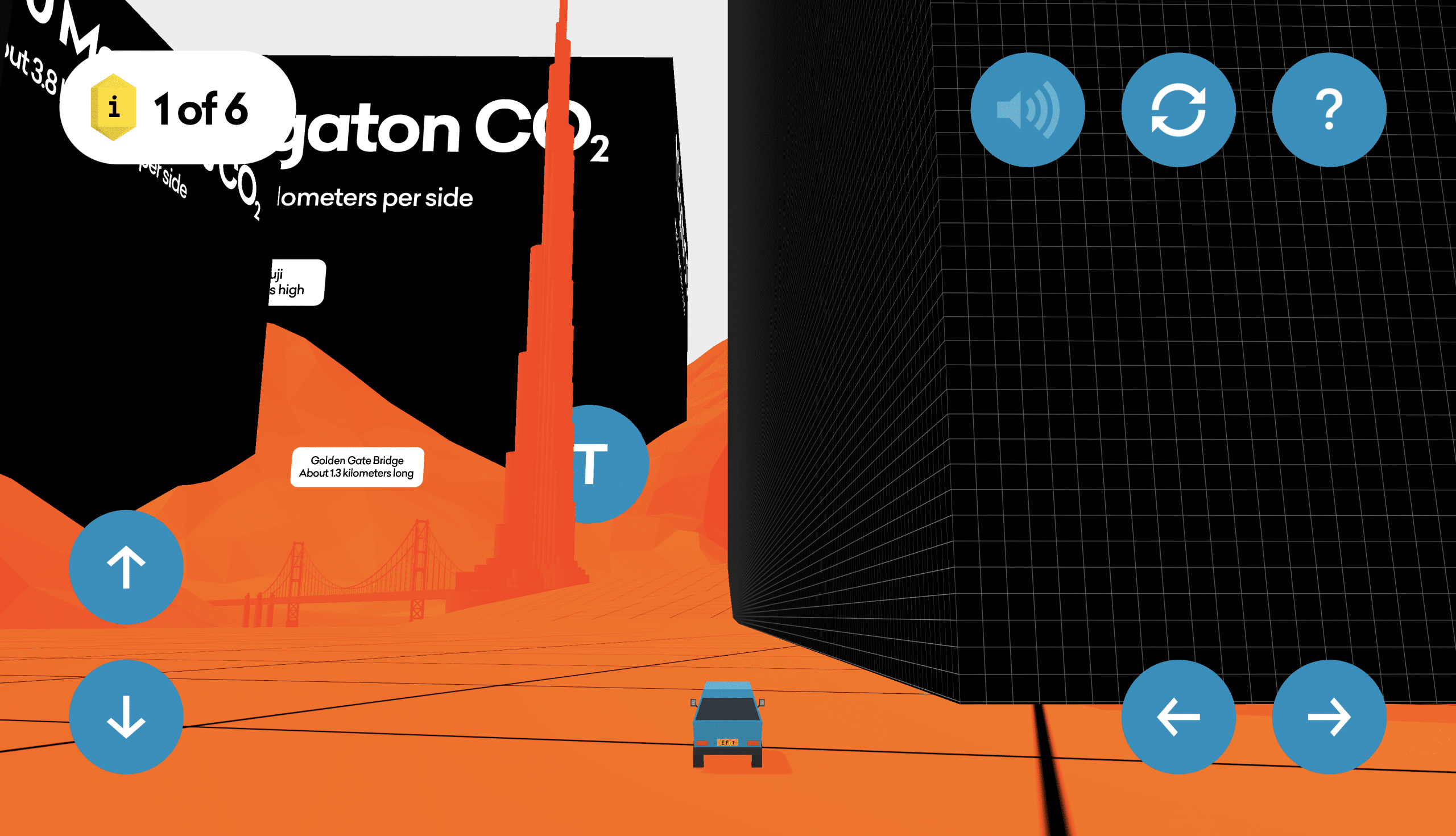 View of 1 Megaton of CO2