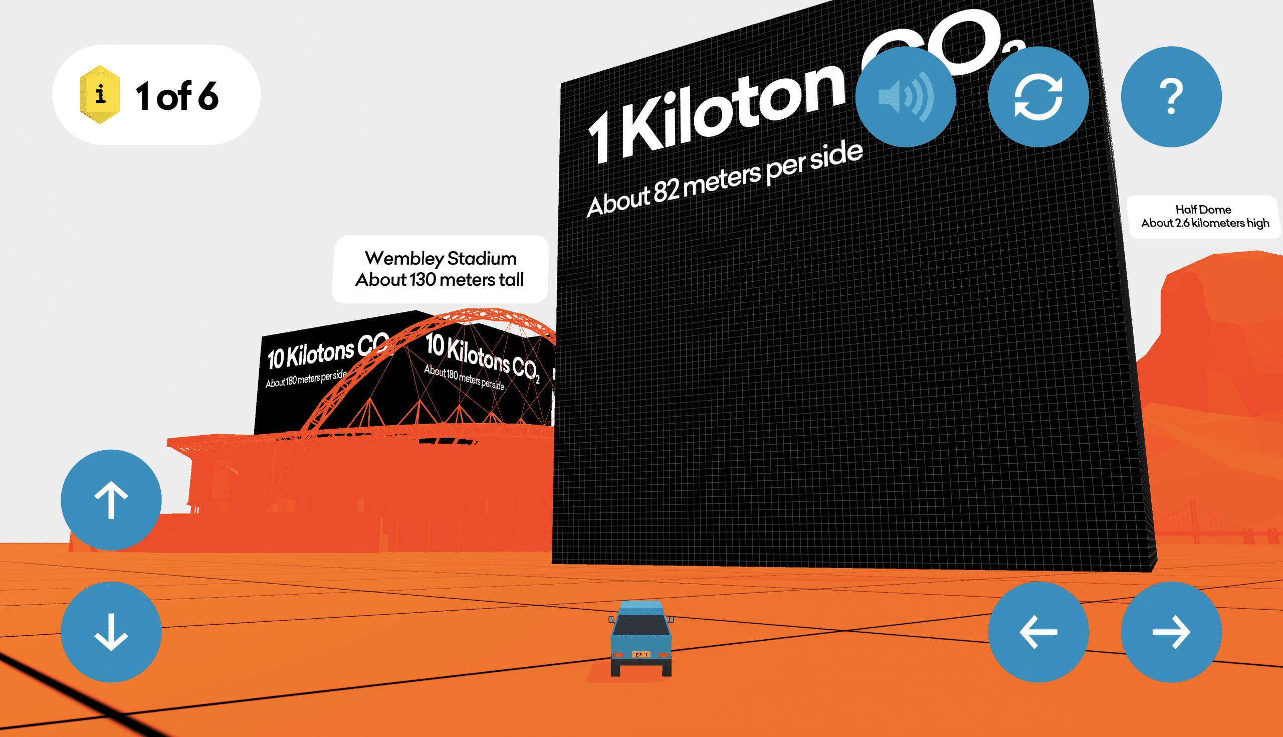 View of 1 Kiloton of CO2